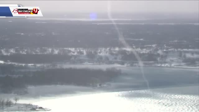 Ice-Nado? Bob Mills Sky News 9 Captures Funnel Over Lake Hefner