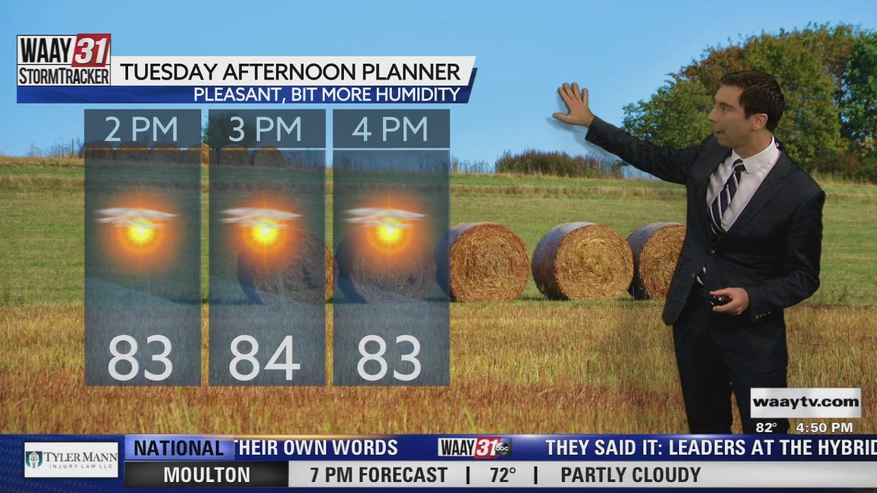 Image for Rob Elvington's Monday, September 27 North Alabama Weather Forecast