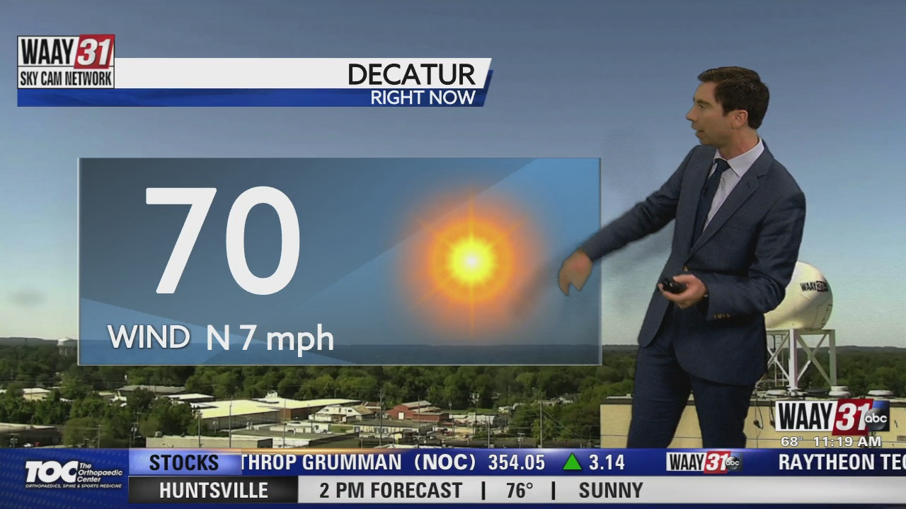 Image for Rob Elvington's Friday, September 24 Midday North Alabama Weather Forecast