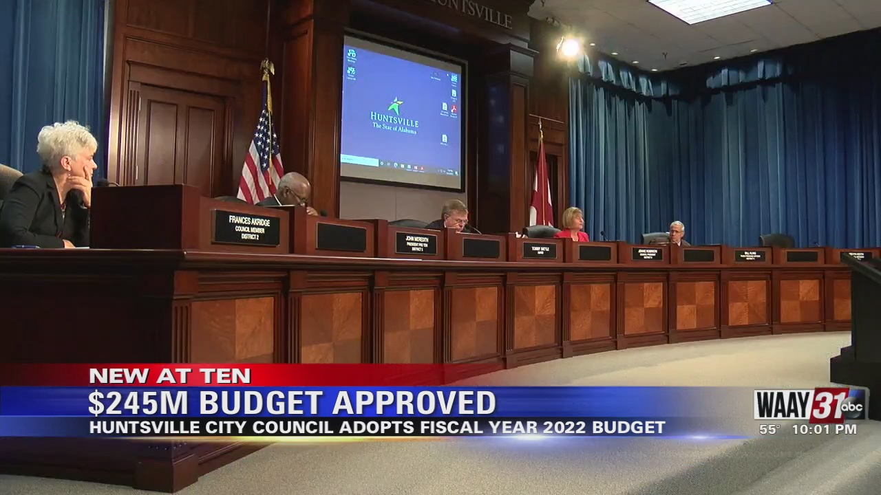 Image for Huntsville City Council Approves $245 Million Operating Budget