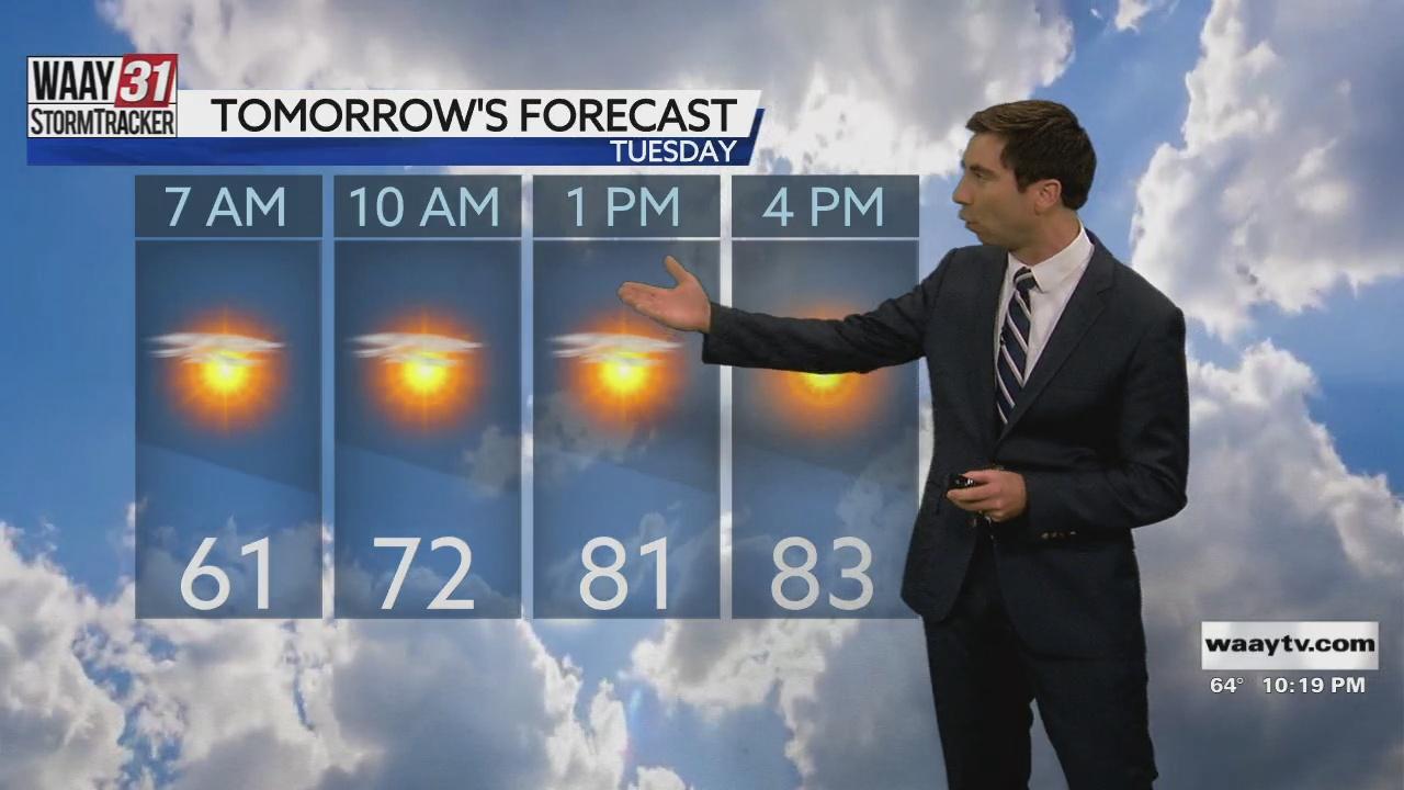 Image for Rob Elvington's Monday, September 27 Late Night North Alabama Weather Forecast