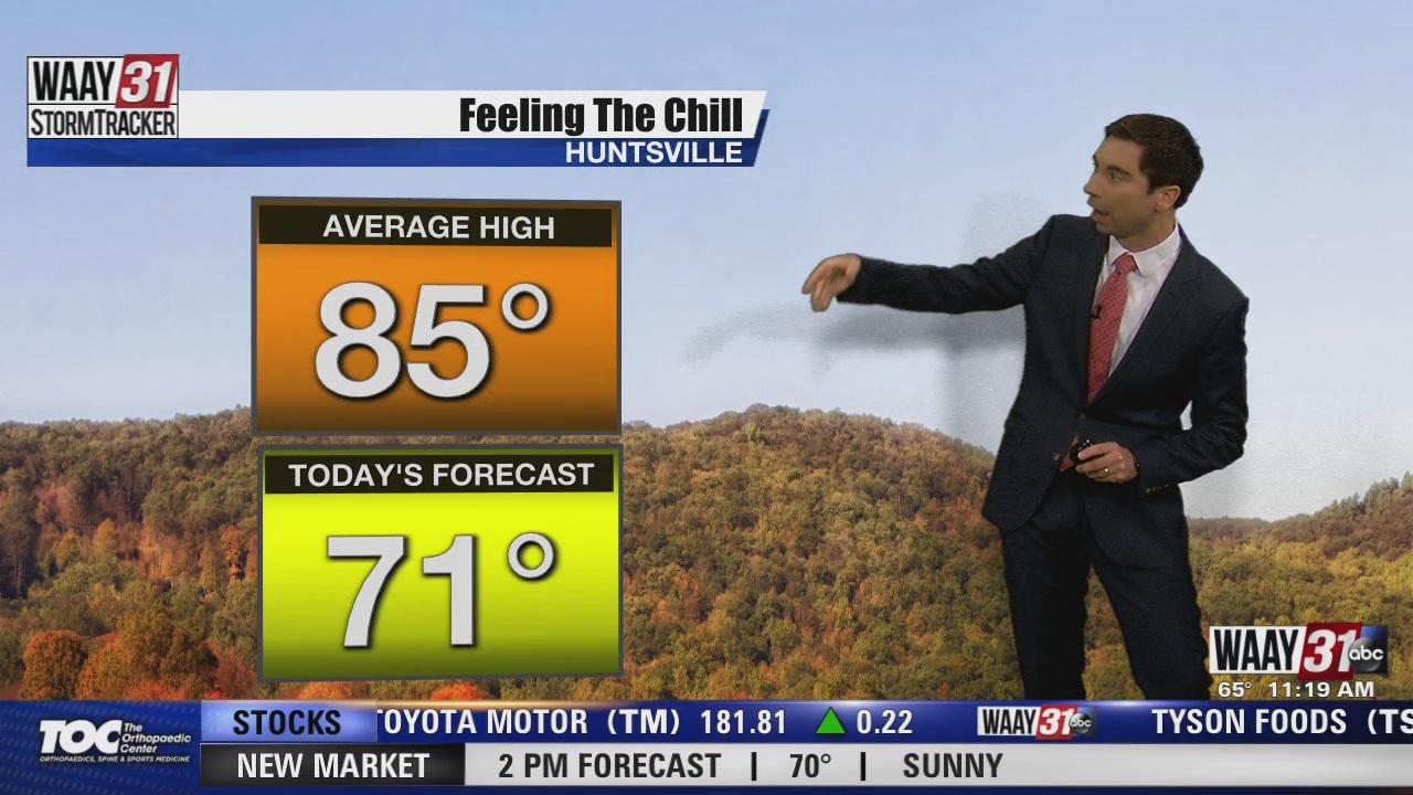 Image for Rob Elvington's Thursday, September 23 Midday North Alabama Weather Forecast