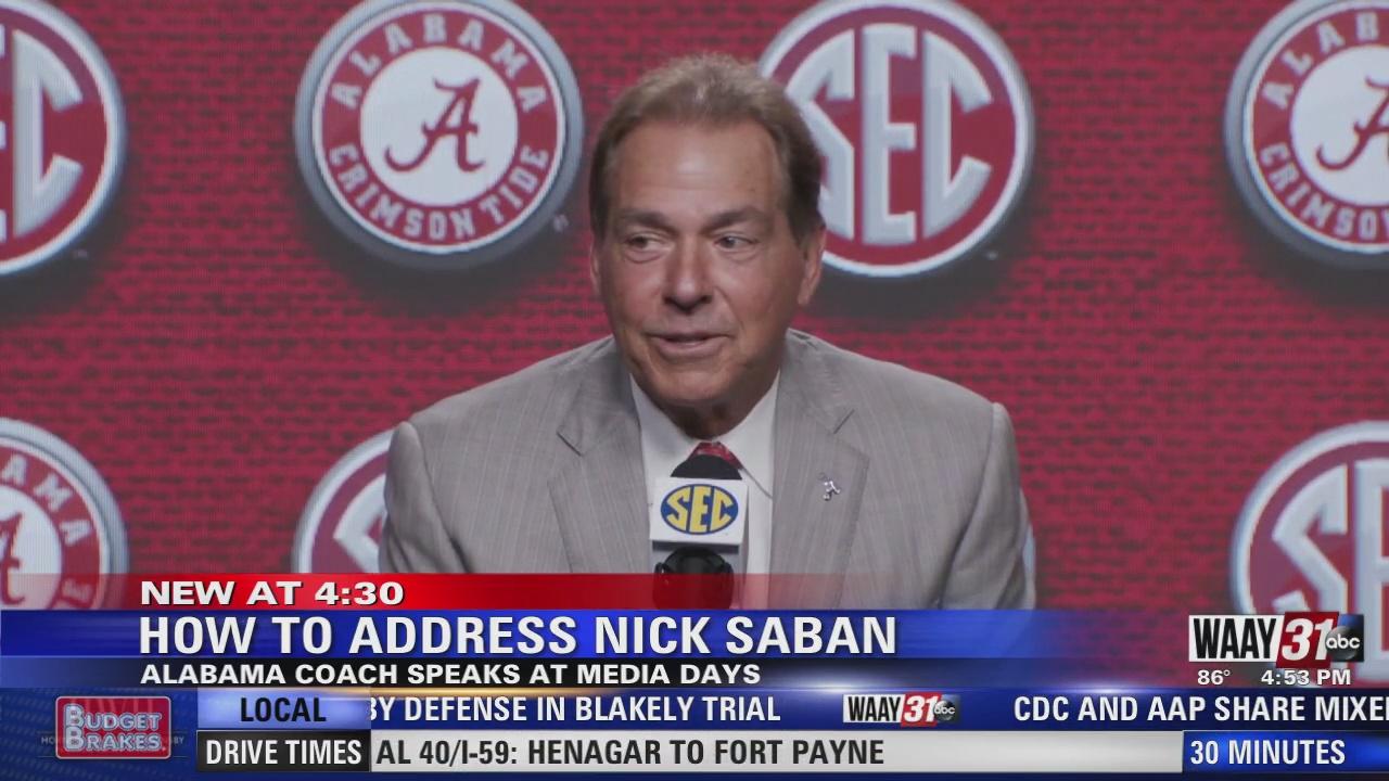 Image for How to address Nick Saban