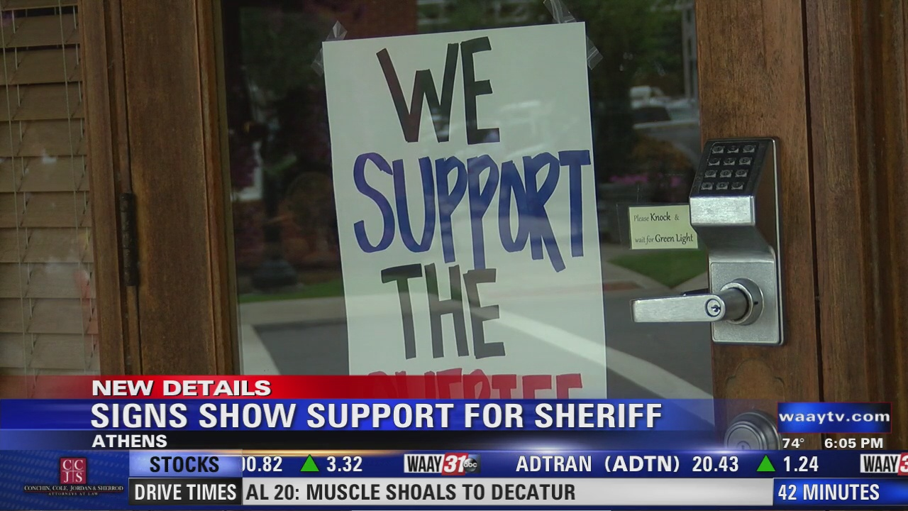 Image for Signs Show Support For Sheriff