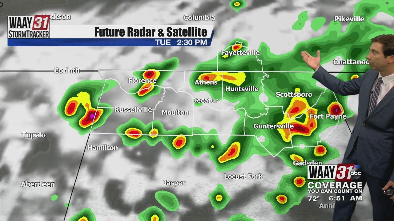 Image for Rob Elvington's Tuesday, July 20 North Alabama Weather Forecast
