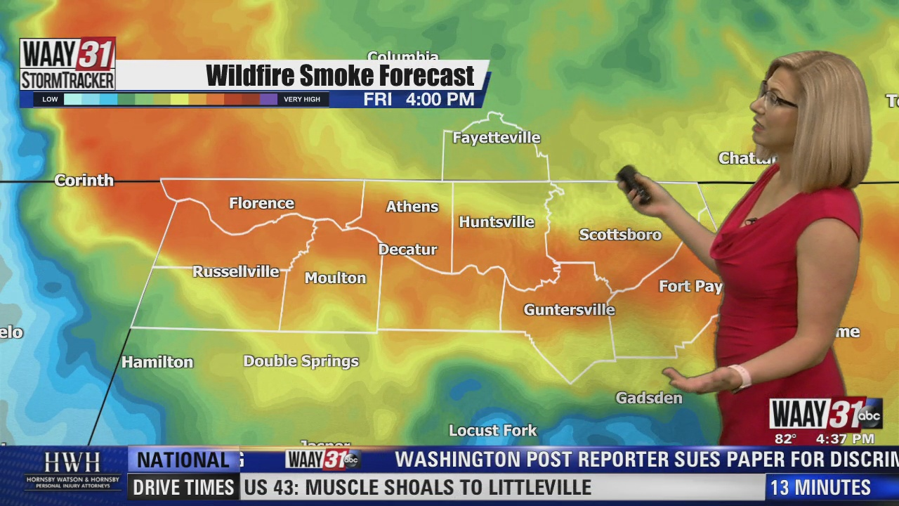 Image for WAAY 31 Chief Meteorologist Kate McKenna explains how smoke from Oregon wildfires is impacting air quality in North Alabama