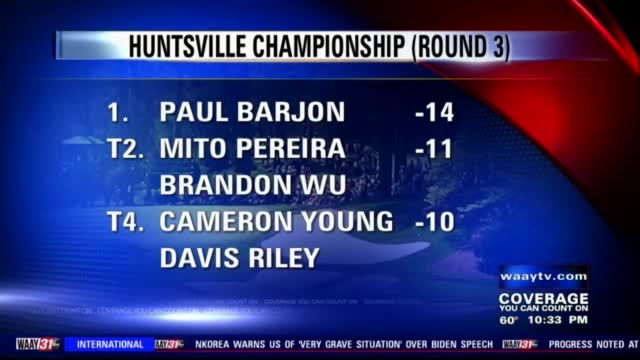 Image for Paul Barjon takes three-stroke lead, eyes breakthrough win at Huntsville Championship