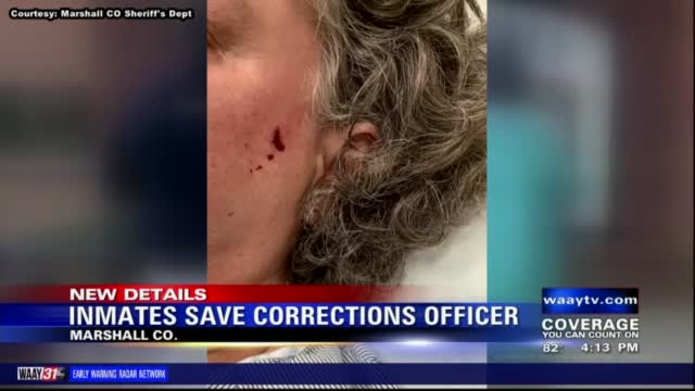 Image for Inmates save Marshall County corrections officer