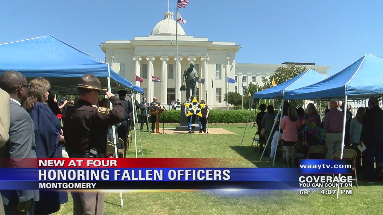 Image for Memorial honors Alabama fallen officers