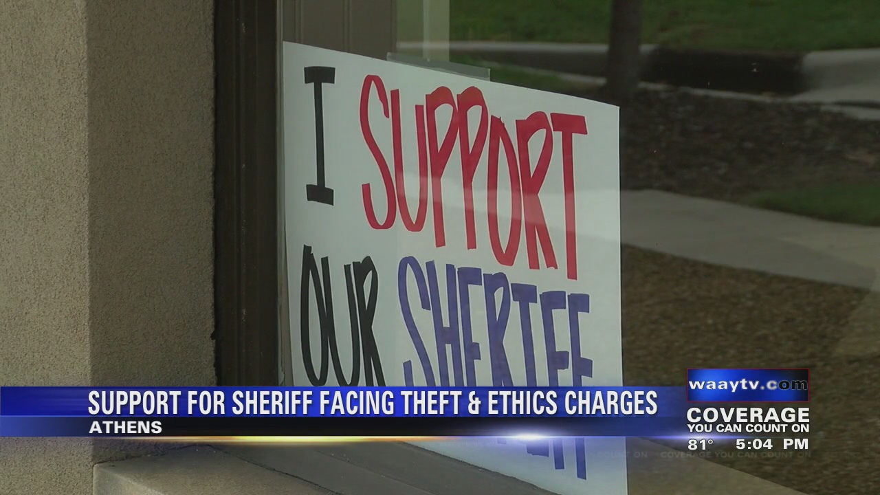 Image for Support for Sheriff in face of Theft and Ethics Charges