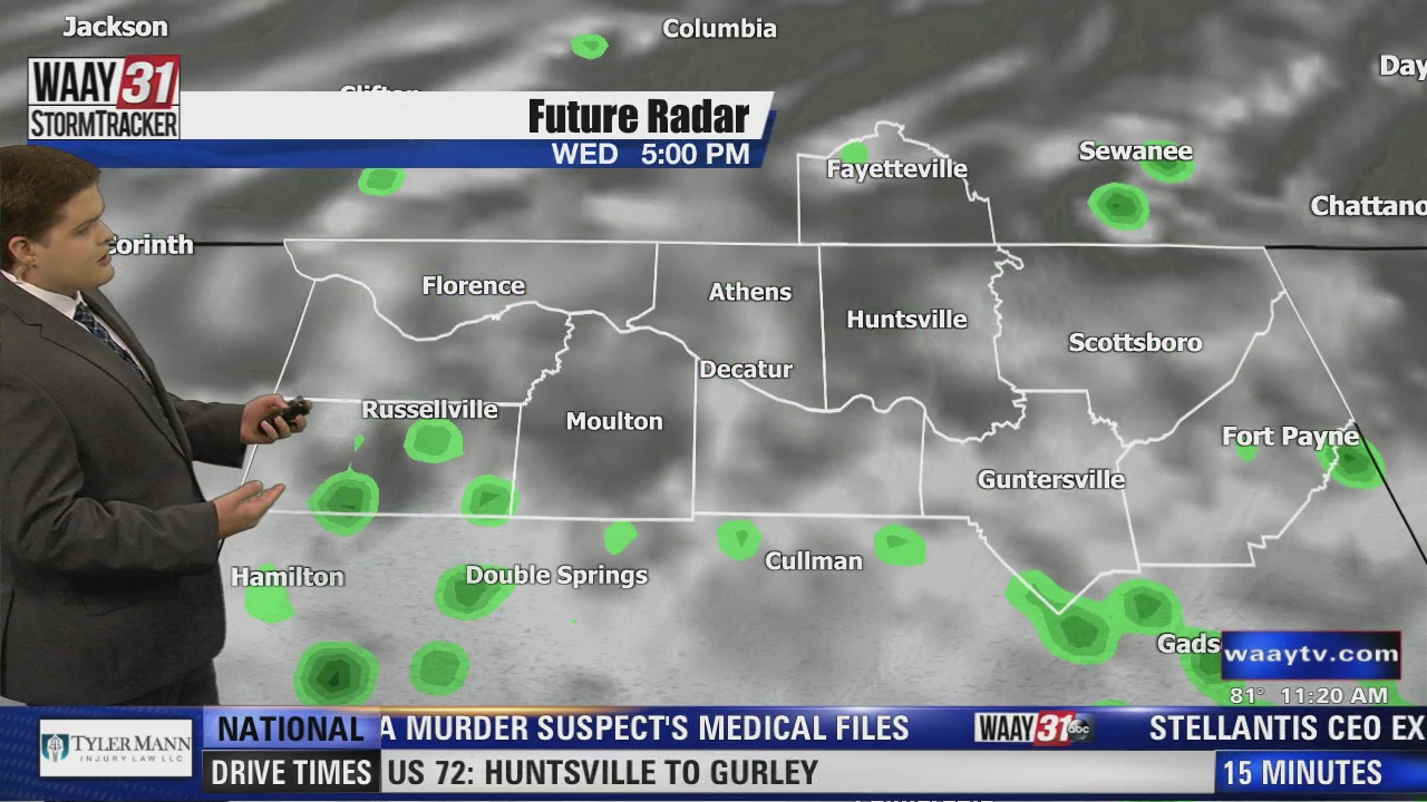 Image for Carson's Wednesday Midday Forecast 7/21