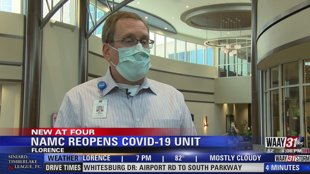 Image for North Alabama Medical Center in Florence re-opens Covid unit due to spike in cases