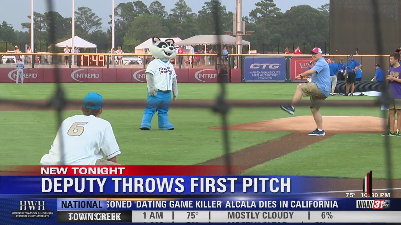 Image for Morgan County Deputy Throws Out First Pitch at Trash Pandas Game