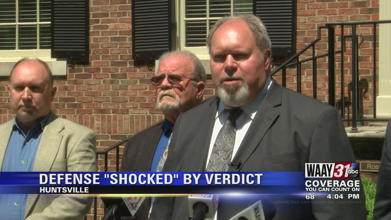 Image for Attorneys 'shocked' by guilty verdict in murder trial for Huntsville police officer