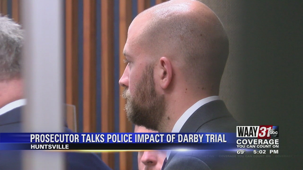 Image for Prosecutor discusses impact of guilty verdict for Huntsville police officer