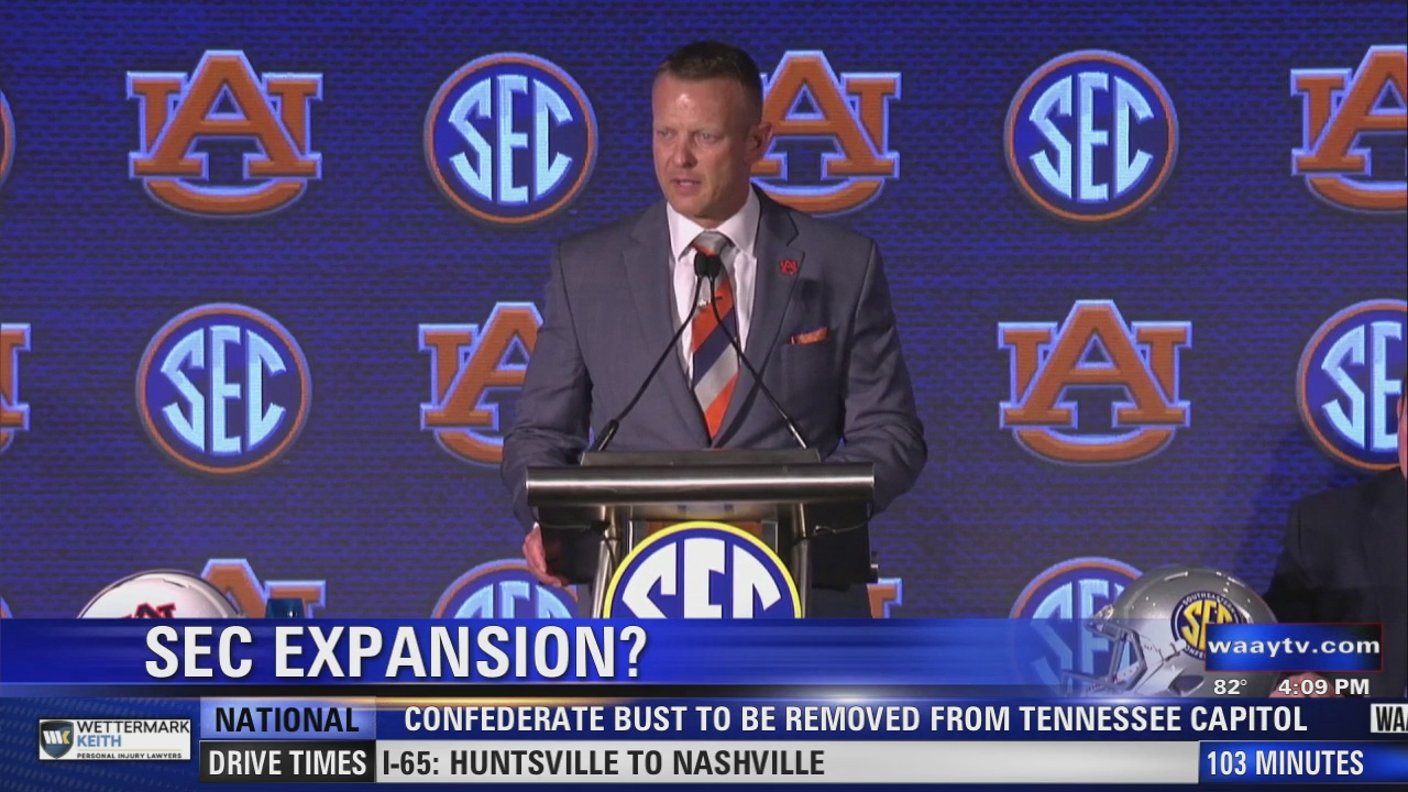 Image for Auburn coach Bryan Harsin understands why football teams want to join the SEC