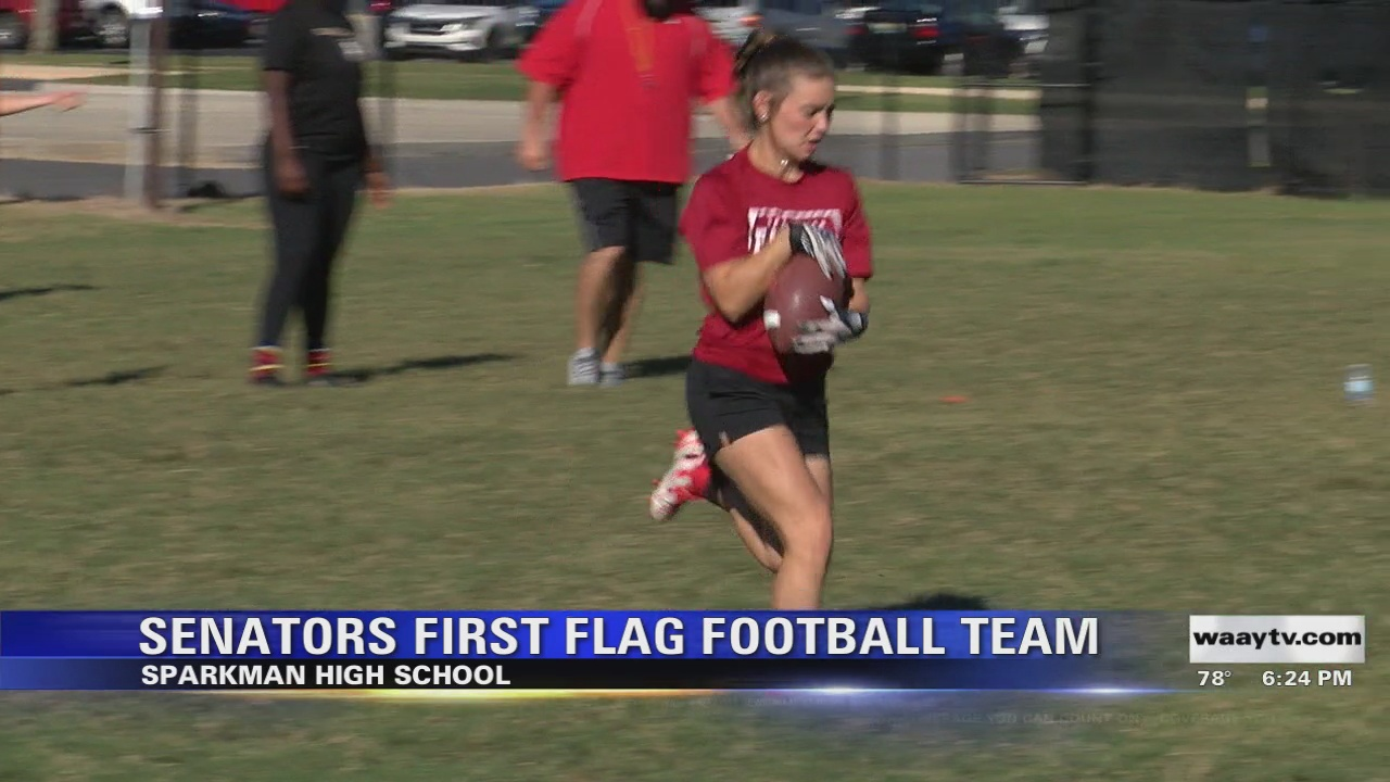 Image for Sparkman's first women's flag football team