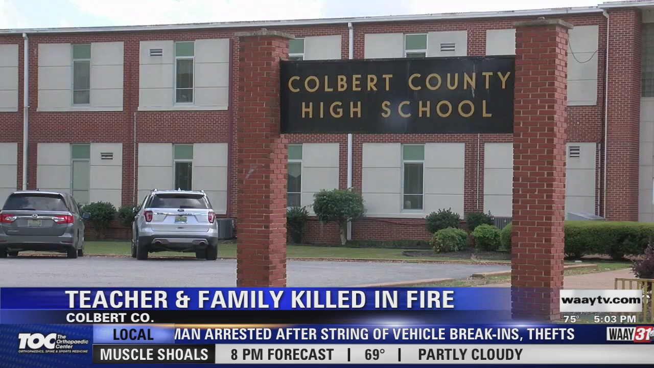 Image for Teacher and Family Killed in Fire