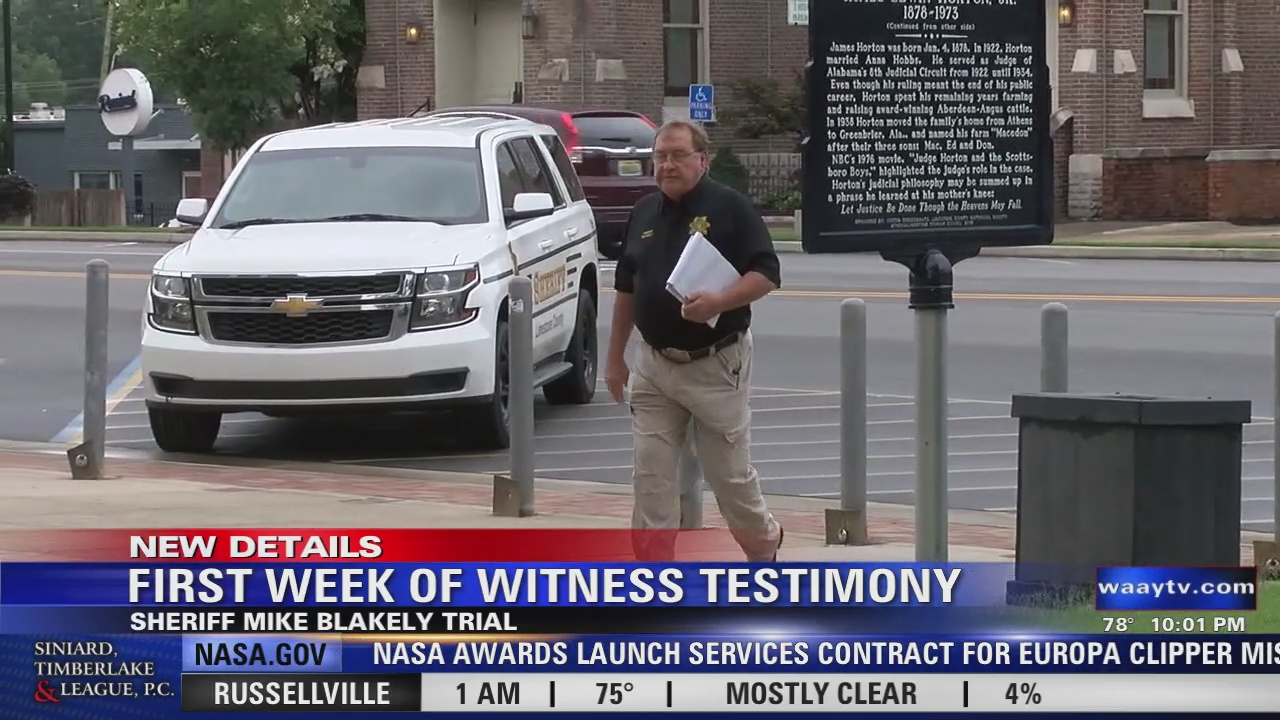 Image for First Week of Witness Testimony