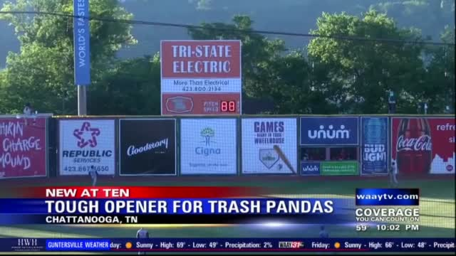 Image for Trash Pandas lose season opener against Chattanooga Lookouts