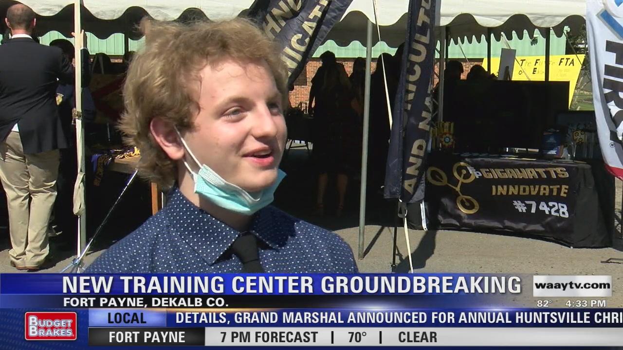 Image for Gov. Kay Ivey visits Fort Payne for training center groundbreaking