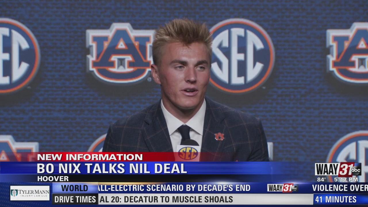 Image for Auburn QB Bo Nix talks NIL deal