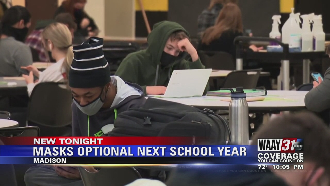Image for Masks Optional During Next School Year in Madison City Schools