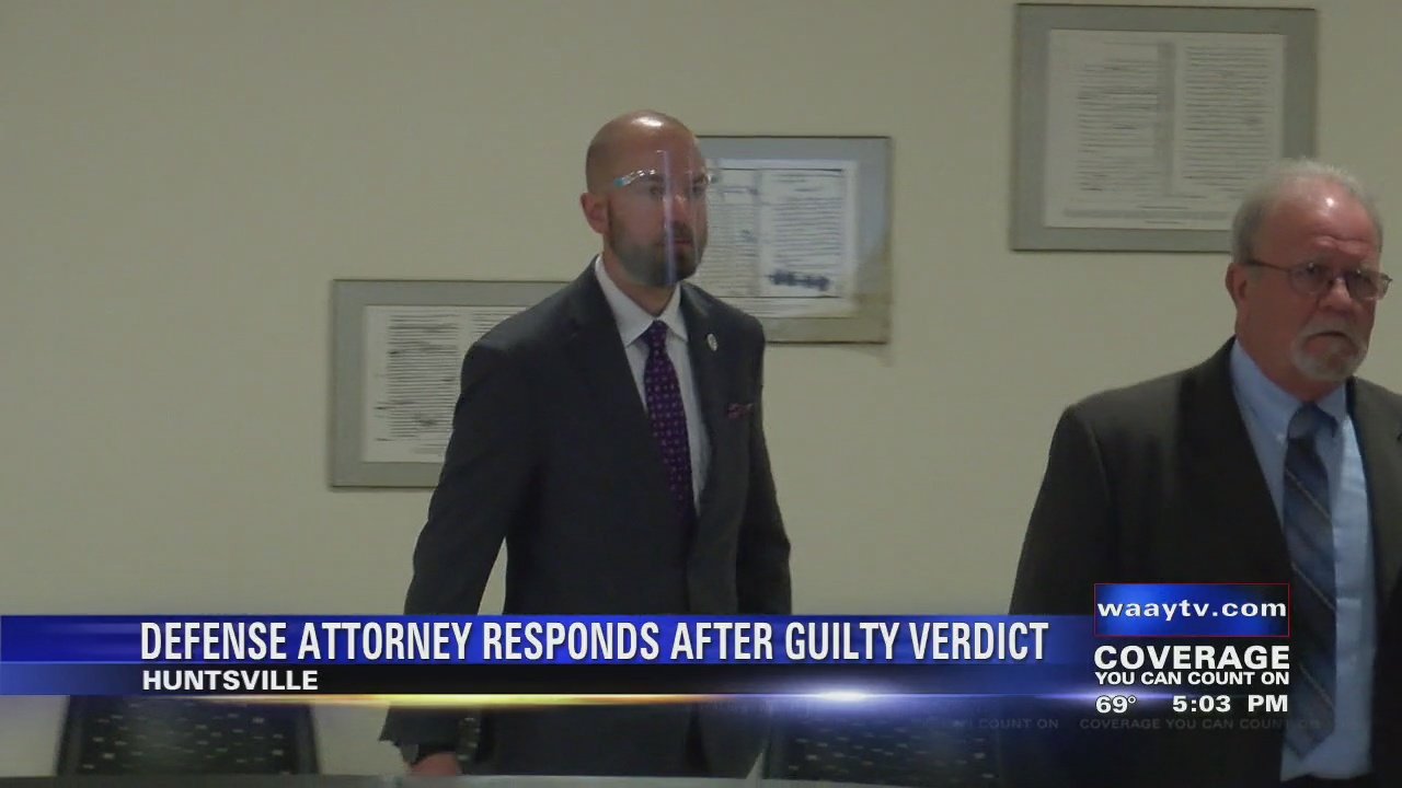 Image for Defense attorney responds to guilty verdict for Huntsville police officer