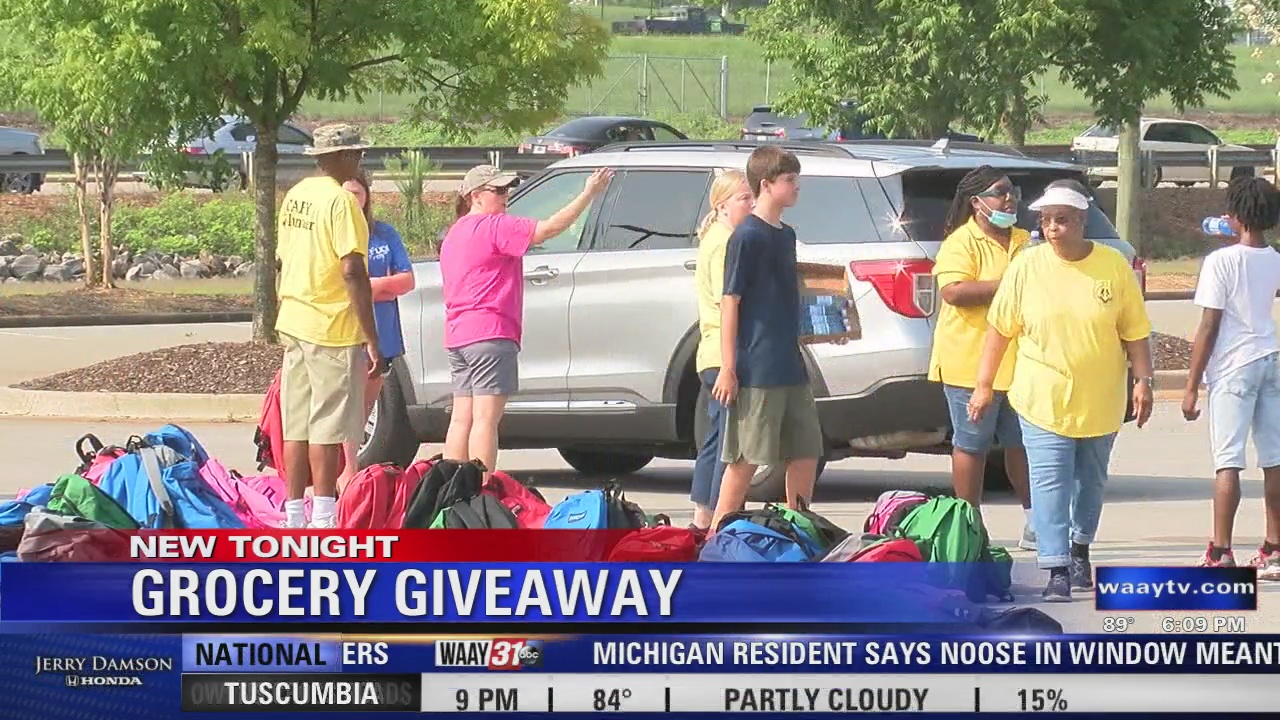 Image for Grocery and School Supply Giveaway Held in Huntsville