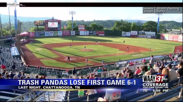 Image for Rocket City Trash Pandas play Chattanooga in doubleheader