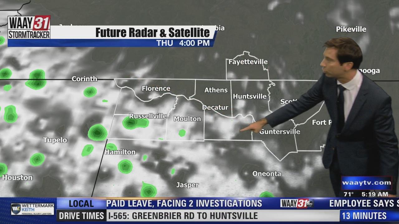 Image for Rob Elvington's Thursday, July 22 North Alabama Weather Forecast