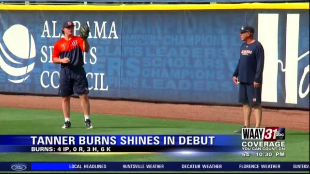 Image for Tanner Burns shines in professional debut