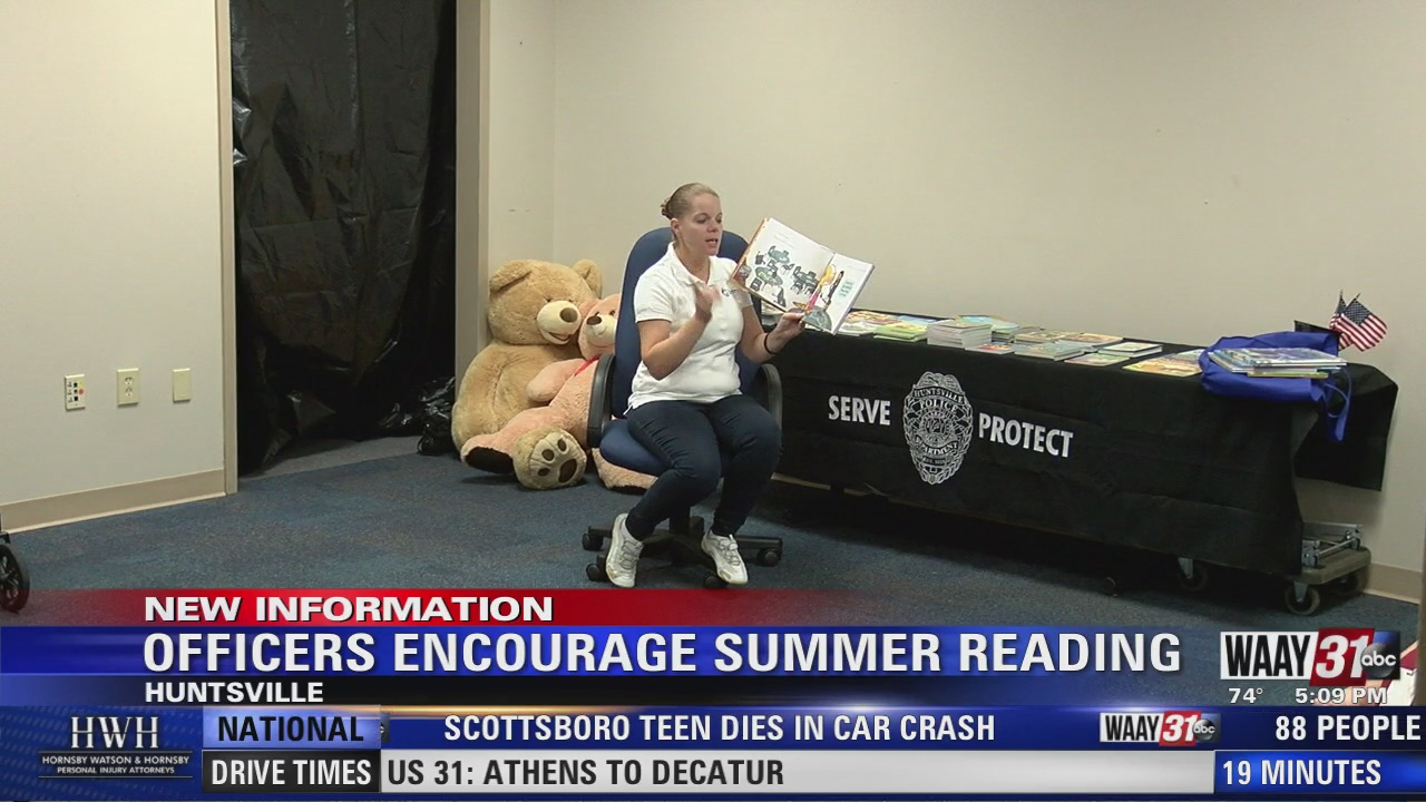 Image for Officers Encourage Summer Reading