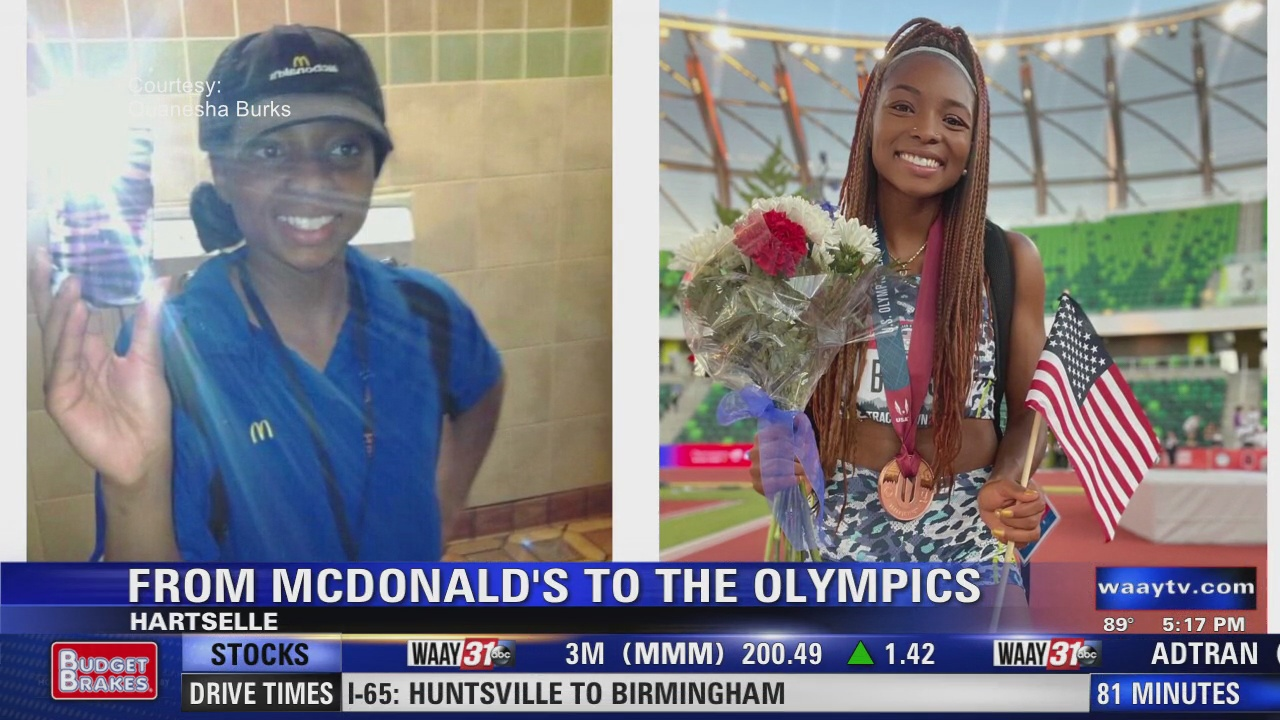 Image for From McDonald's to Tokyo Olympics: Hartselle's Quanesha Burks' hard work leads to dream come true