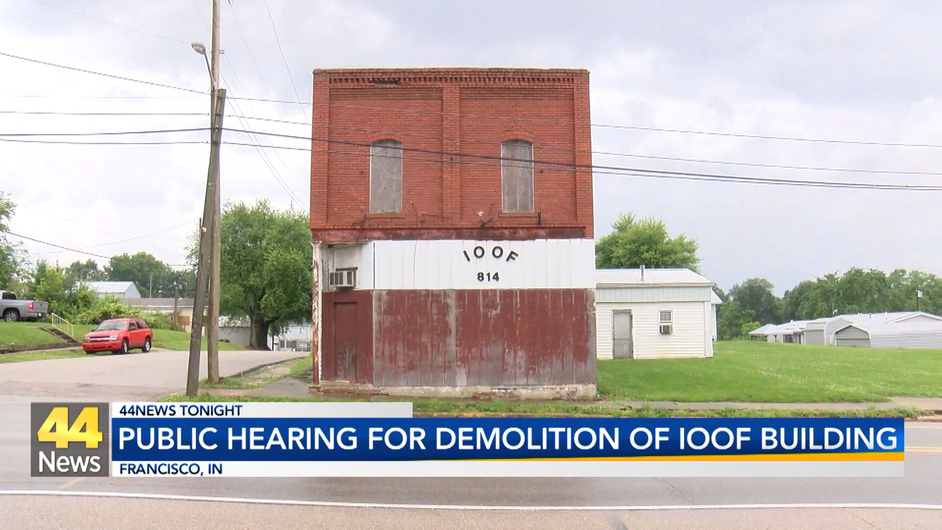 Image for Public Hearing for Demolition of IOOF Building in Francisco