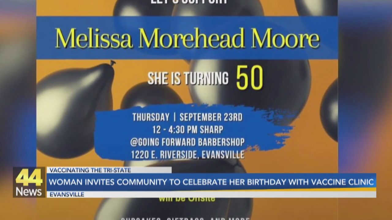 Image for Evansville Woman Invites the Community to Celebrate her 50th Birthday with a Vaccine Clinic