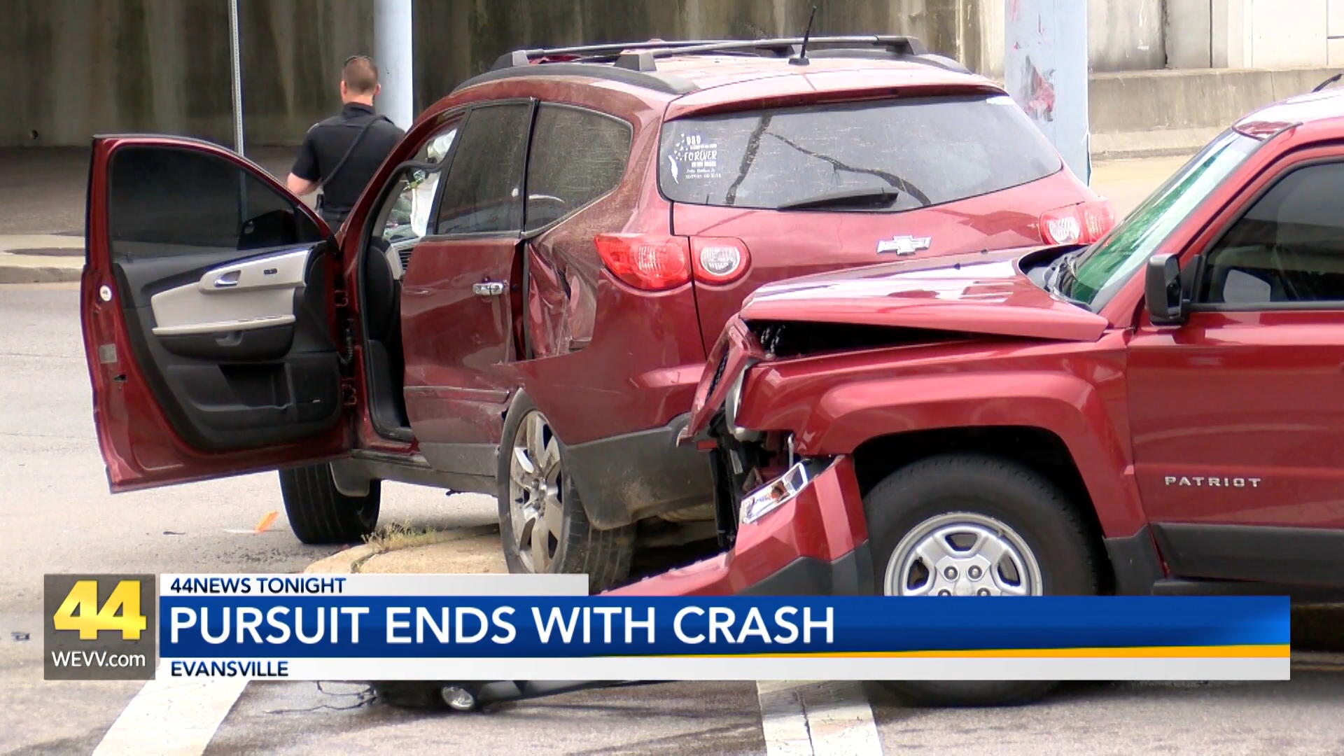 Image for Pursuit Ends With Two Car Crash