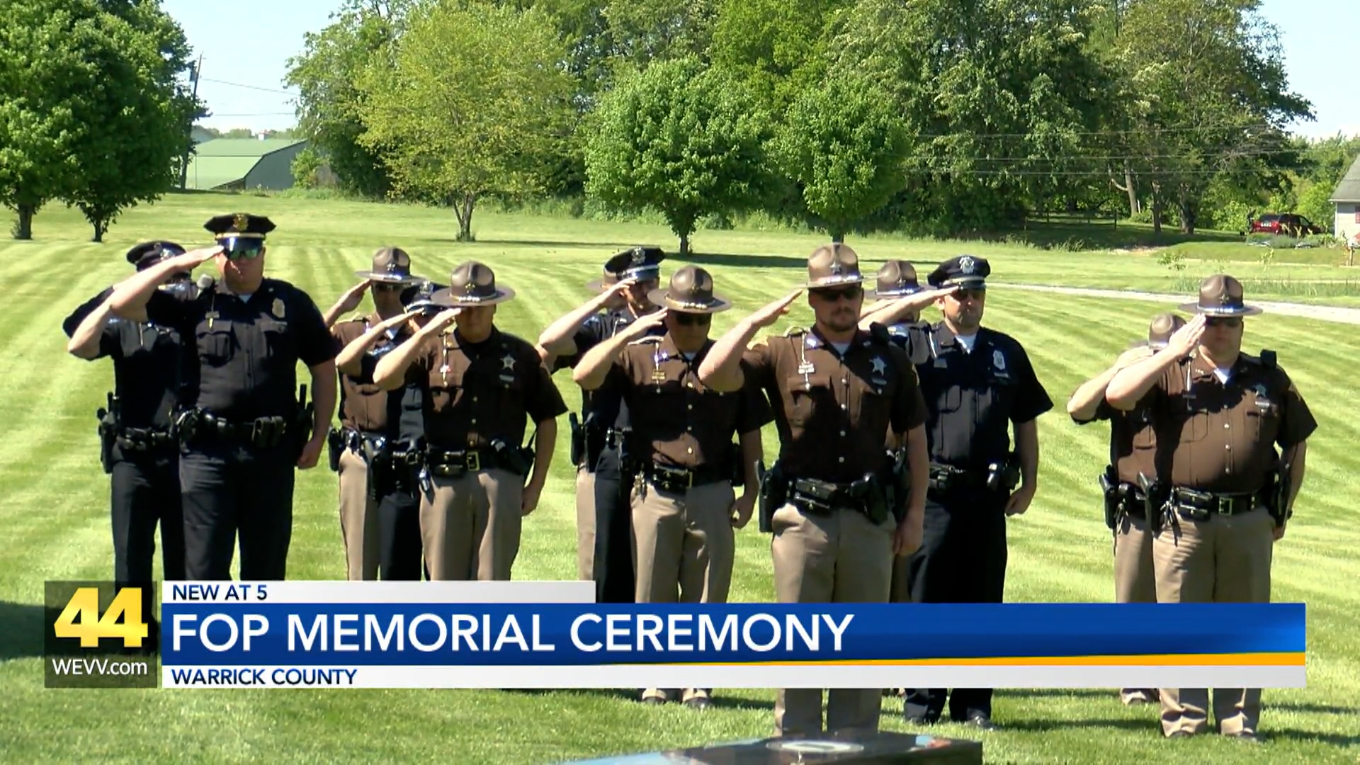 Image for FOP Memorial Ceremony in Warrick County