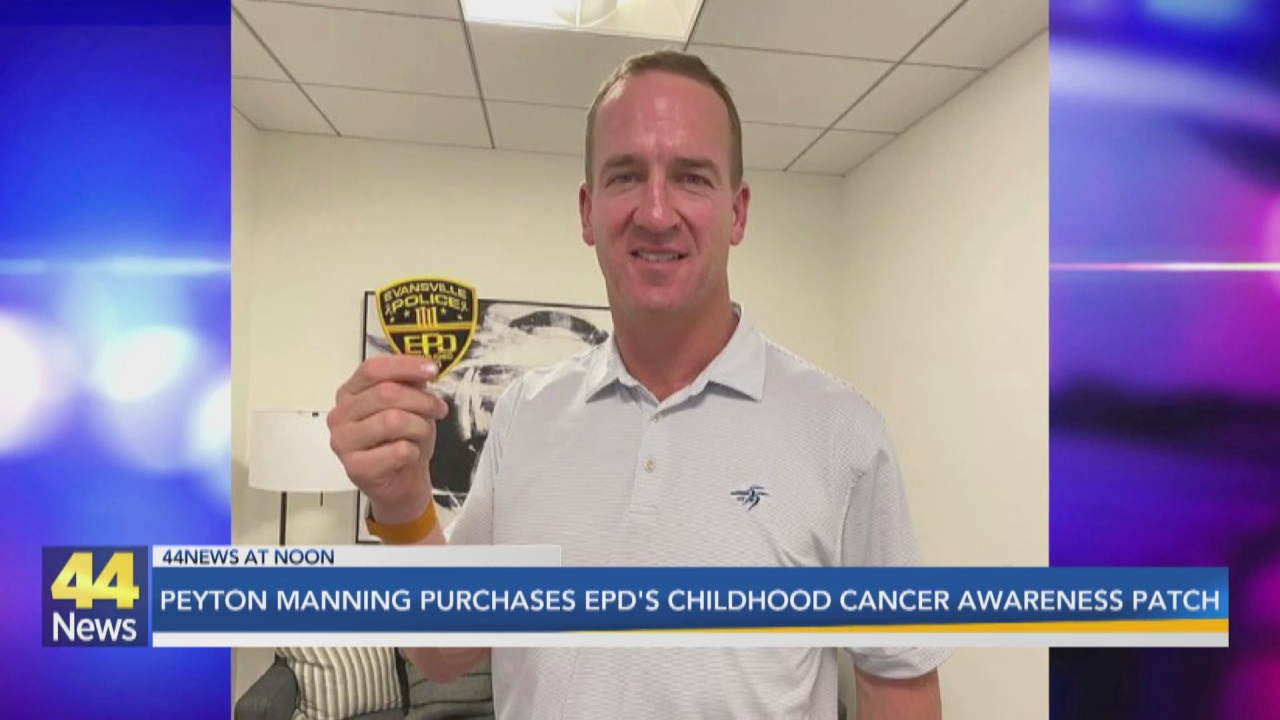 Image for Peyton Manning Purchases EPD Childhood Cancer Awareness Patch