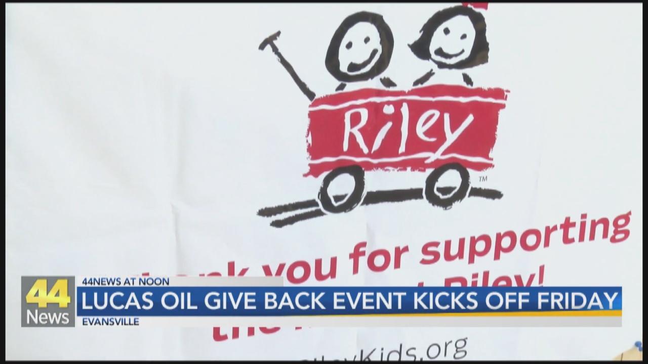 Image for Lucas Oil Center Planning Fundraiser for Riley Children's Hospital