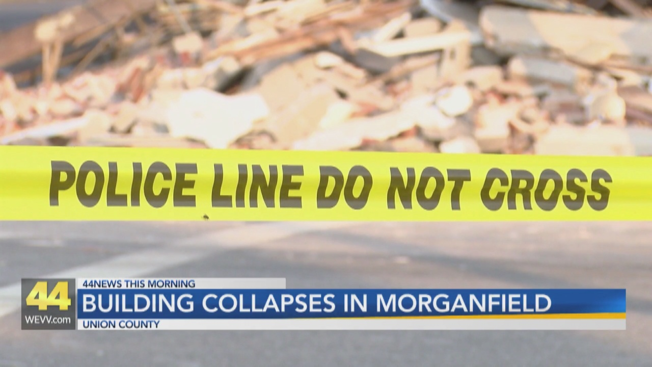 Image for Downtown Morganfield Building Collapses After Crash