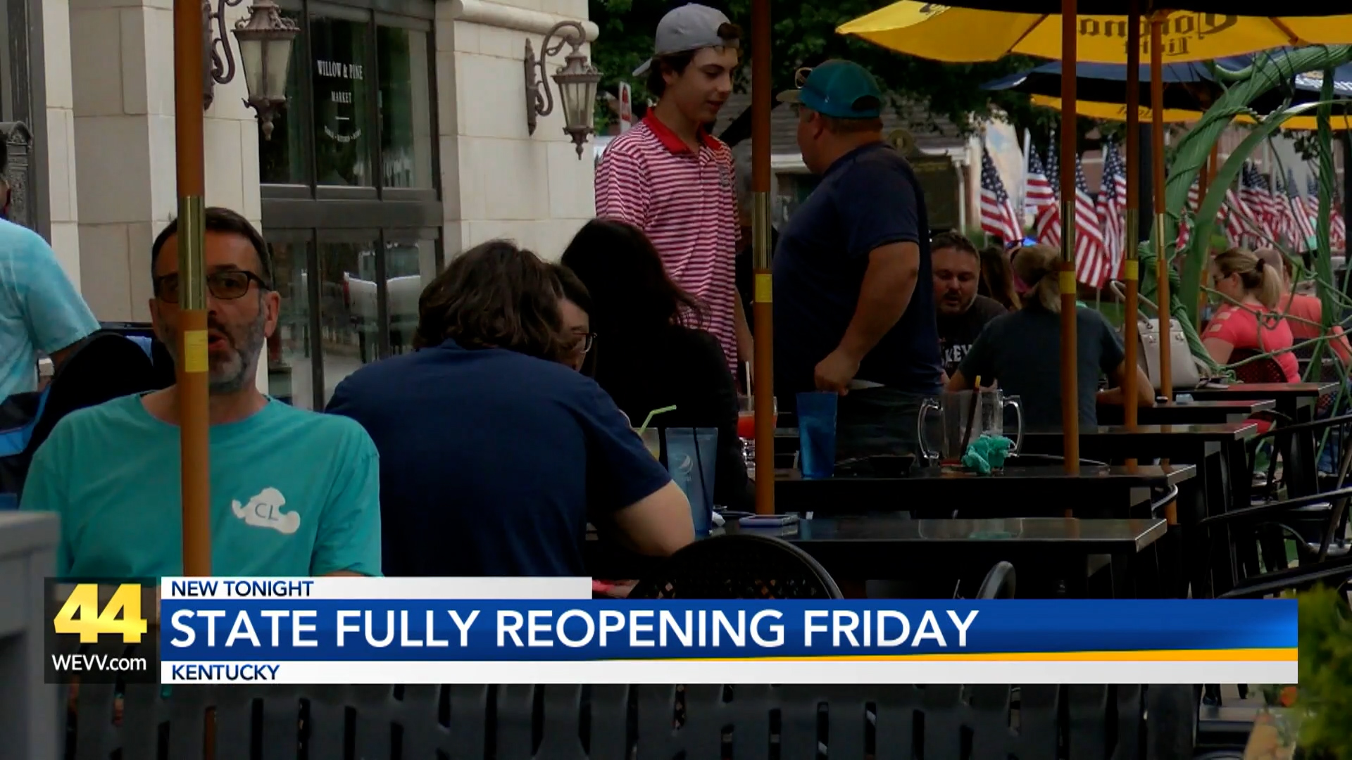 Image for Kentucky Fully Reopening Friday