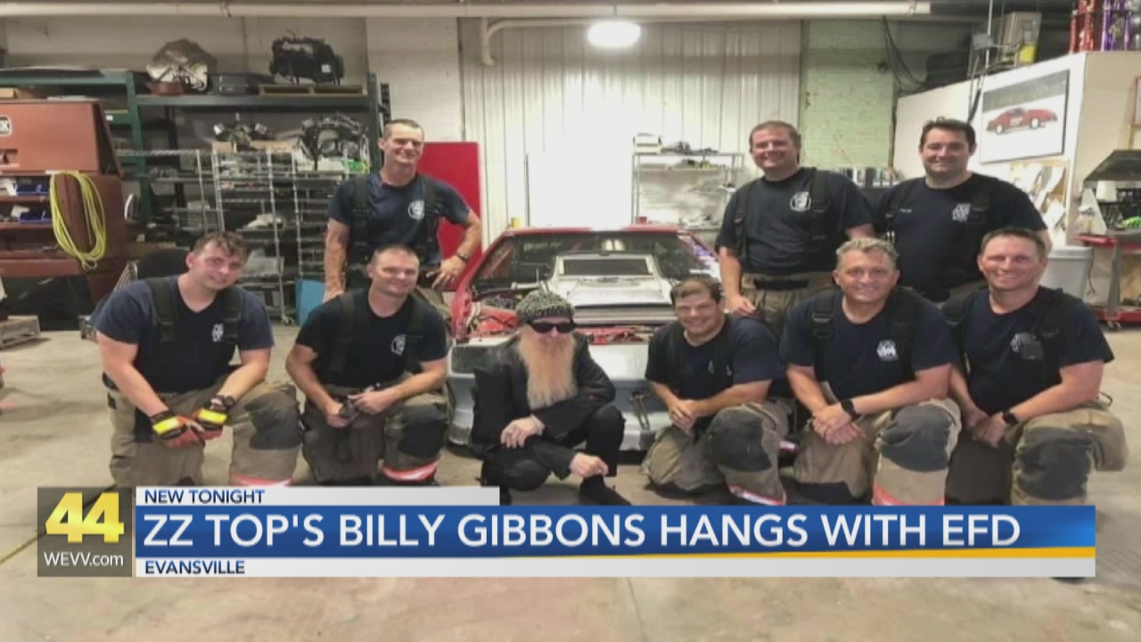Image for ZZ Top spends time with Evansville Firefighters