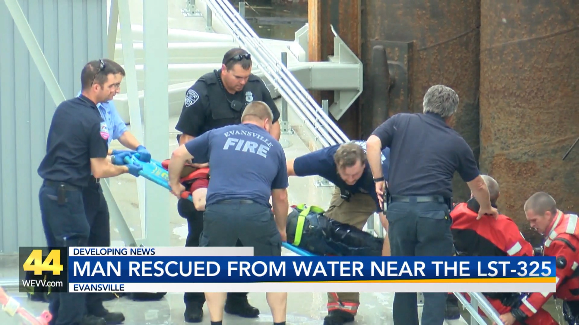 Image for Man Rescued from Water near LST 325