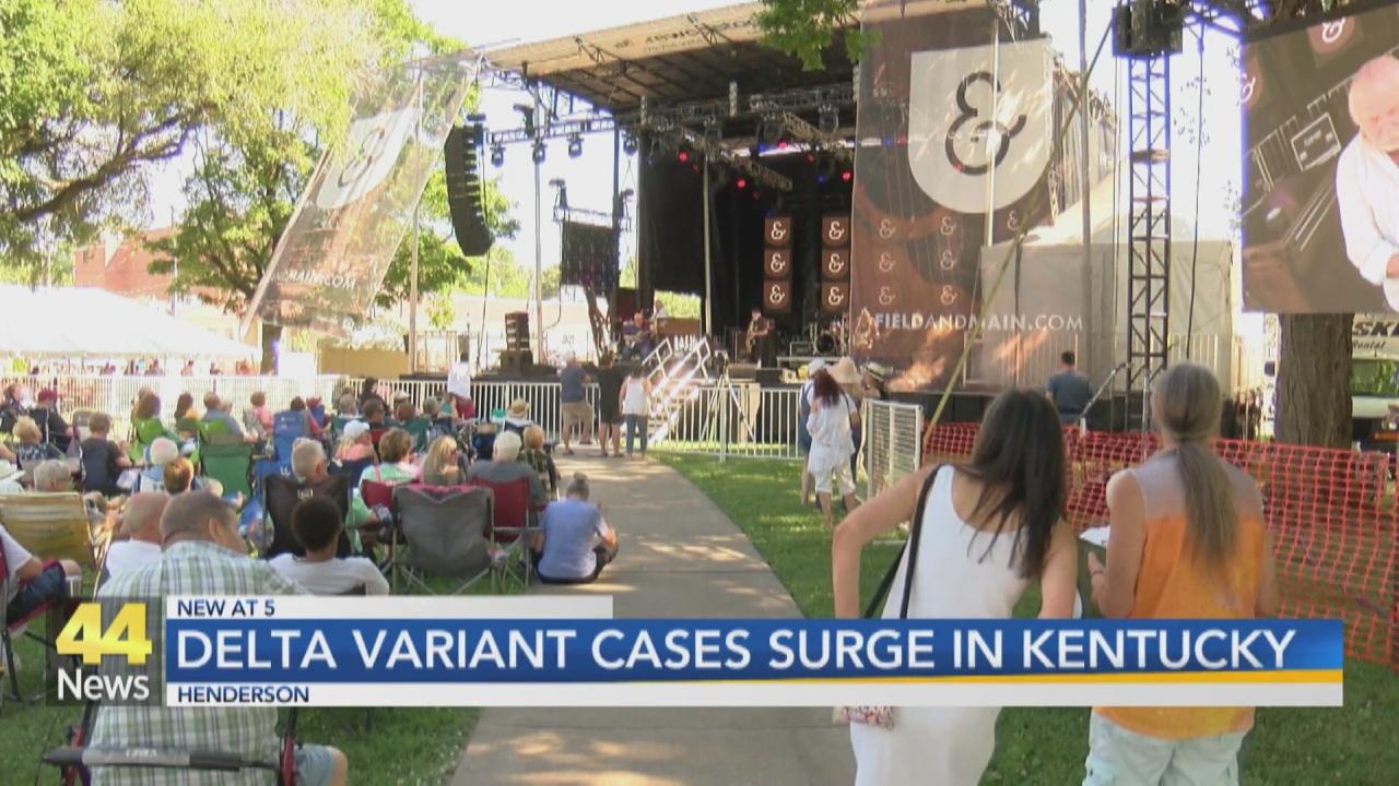 Image for Delta Variant Cases Surge in Kentucky