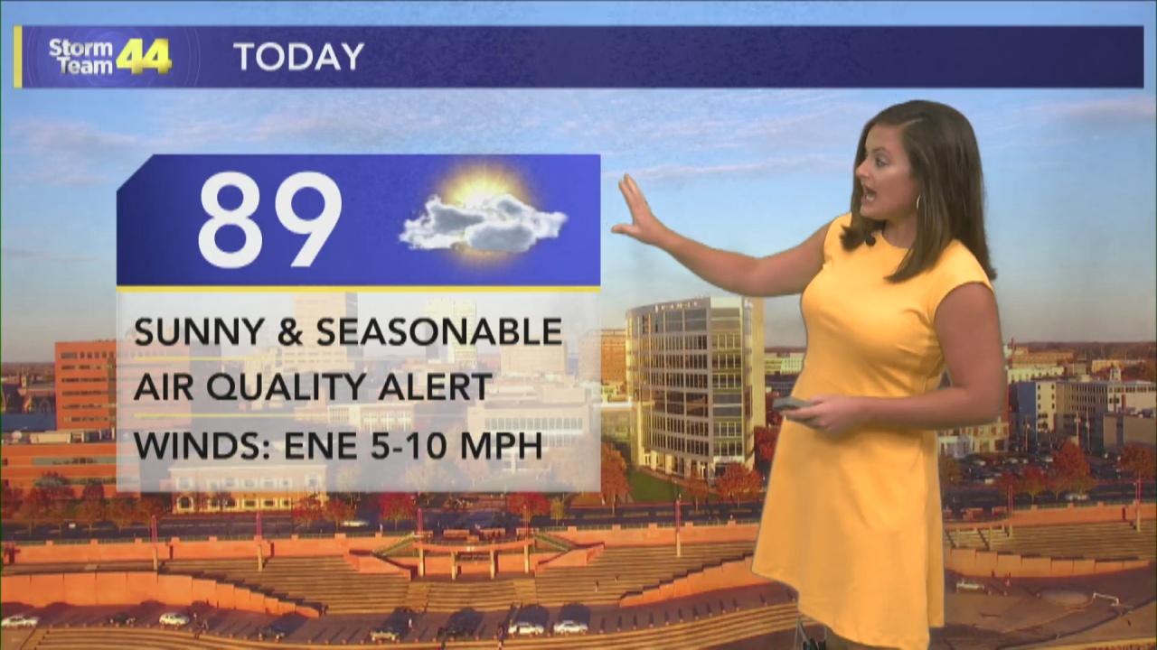 Image for Dry & Hot Thursday; Air Quality Alert