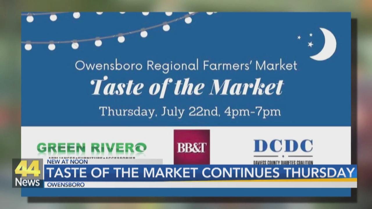 Image for Owensboro Regional Farmers Market Hosting 'Taste of the Market' Event