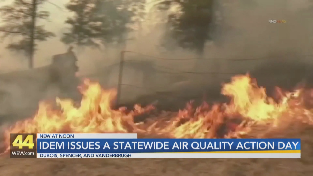 Image for Air Quality Action Day Issued in Southwest Indiana After Wildfires