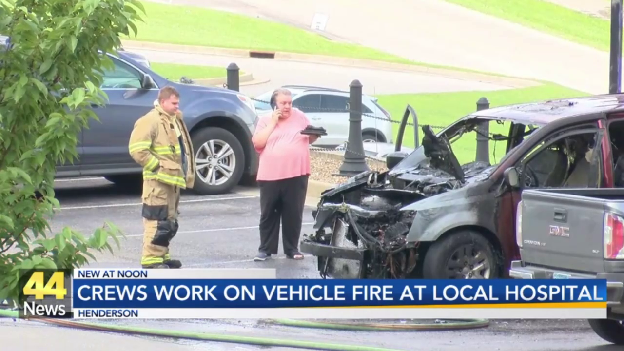 Image for Vehicle Catches Fire in Parking Lot of Deaconess Henderson Hospital