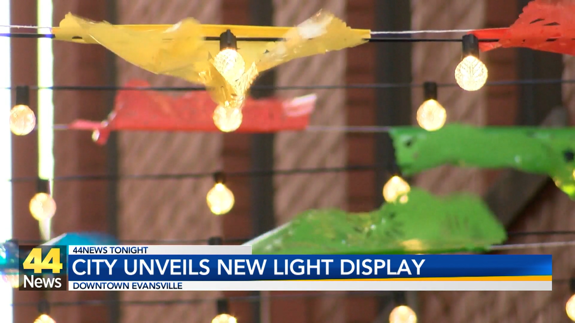 Image for Evansville Unveils New Downtown Light Display